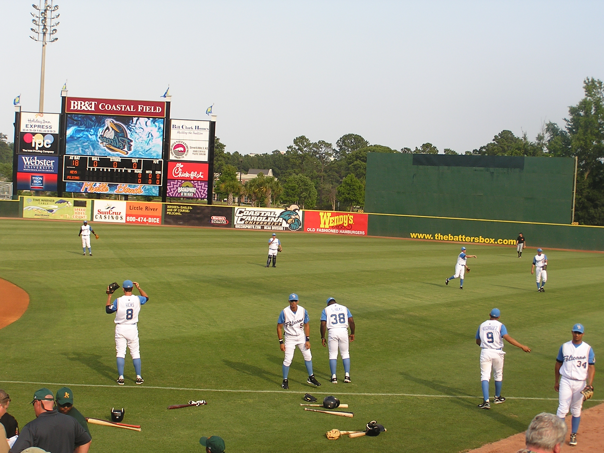 Pre-Game stretching - BB&T Coastal, Myrtle Beach