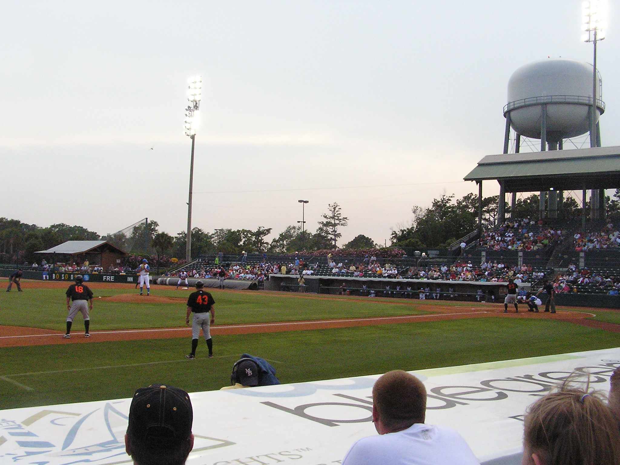 View from behind 3rd base - BB&T Coastal Field
