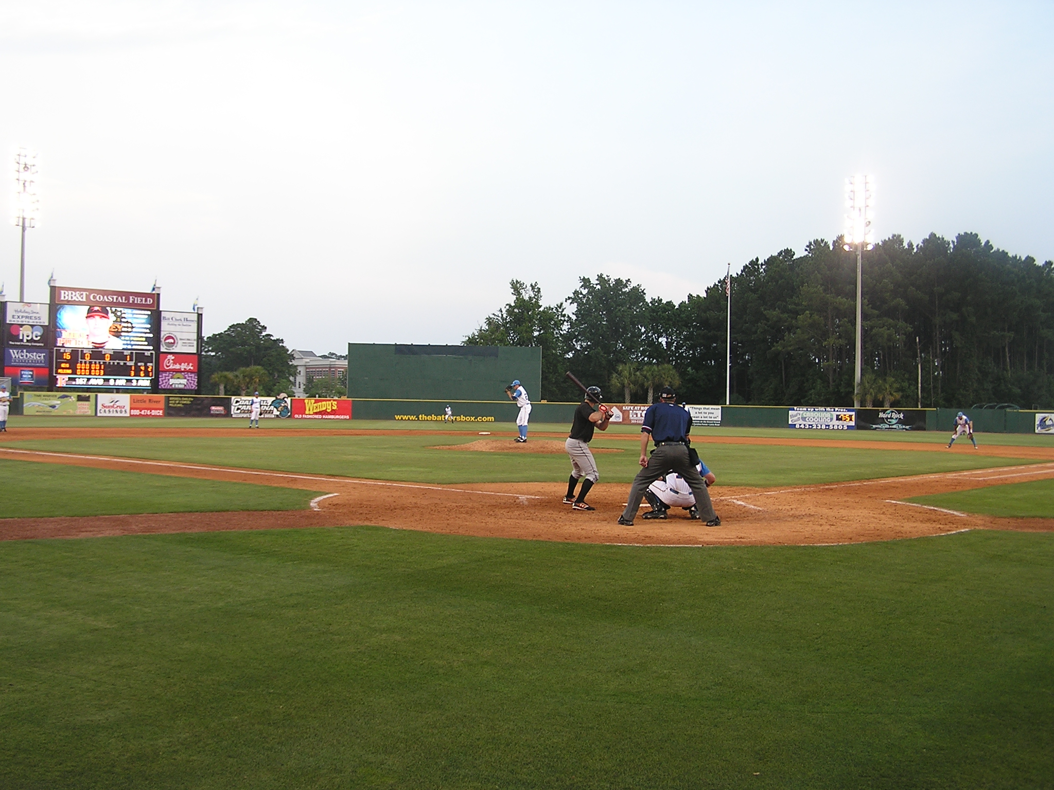 From behind Home Plate - BB&T Coastal Field